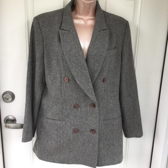 8f0691d8781d Laura Scott Jackets & Coats   Grey 100 Wool Double Breasted Jacket ...